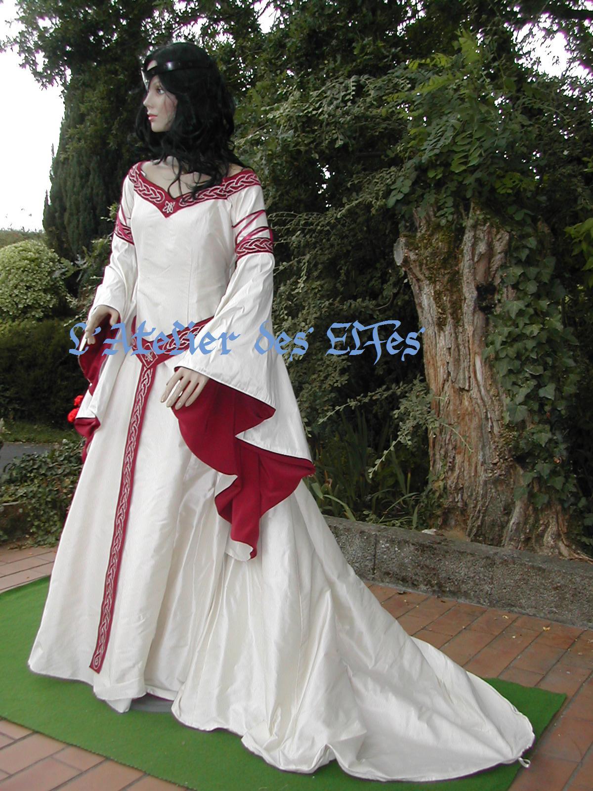 Super La robe de mariée médiévale de Dame Blandine -L'Atelier des Elfes  KO09