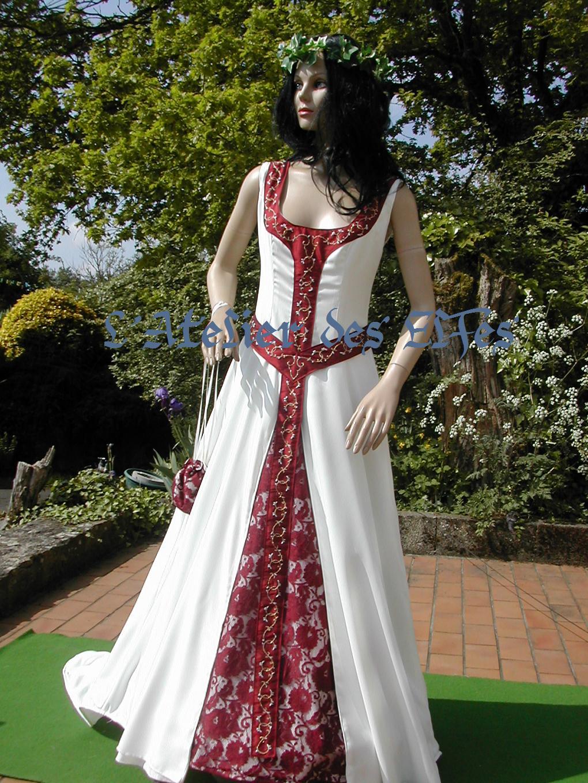 Fabuleux La robe de mariée elfique de Dame Emilie - L'Atelier des Elfes  OE37