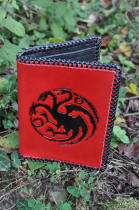 Portefeuille en cuir dragon Targaryen, game of thrones