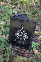 portefeuille en cuir, motif logo d'Assassin's creed