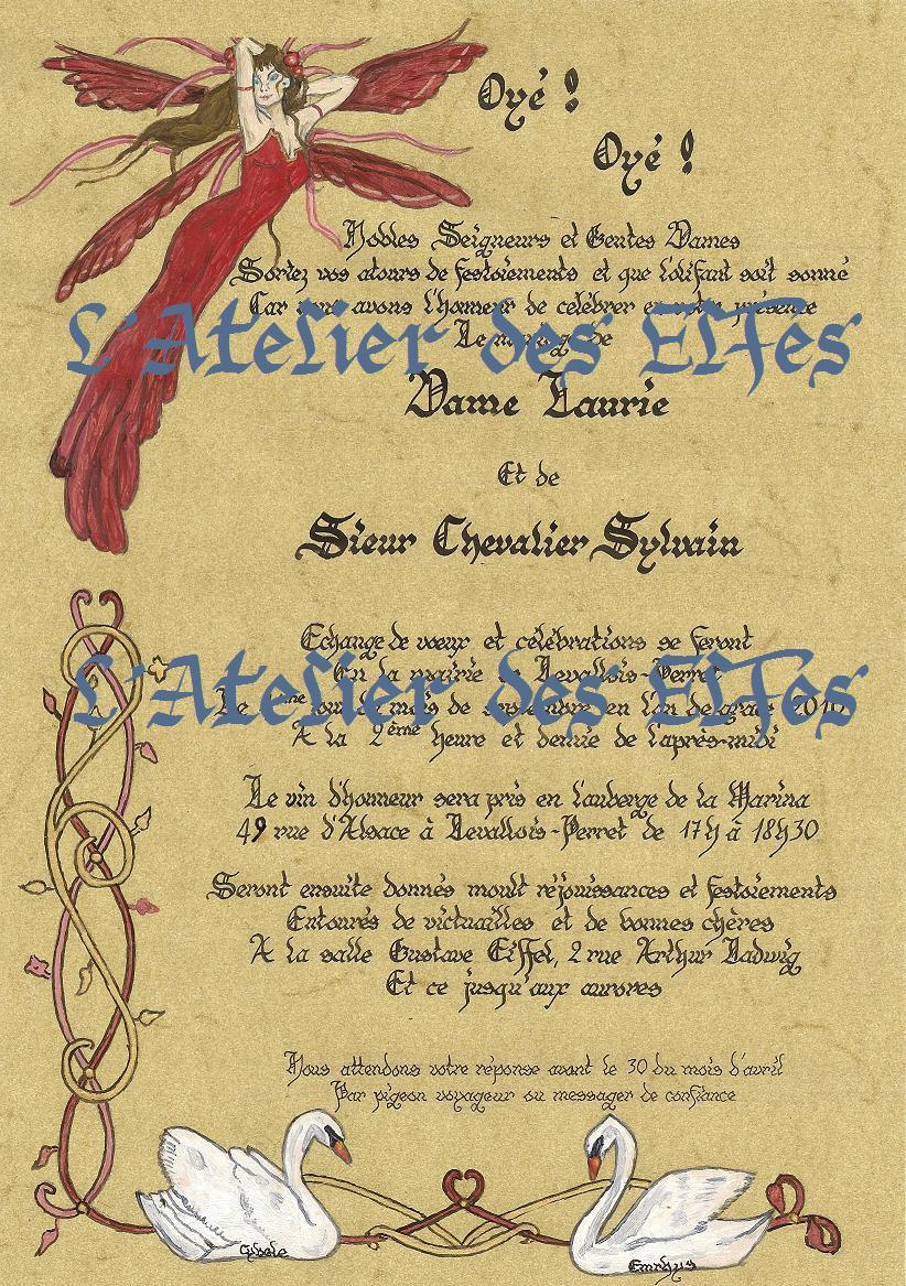 Fabuleux Les calligraphies de l'Atelier des Elfes FA28