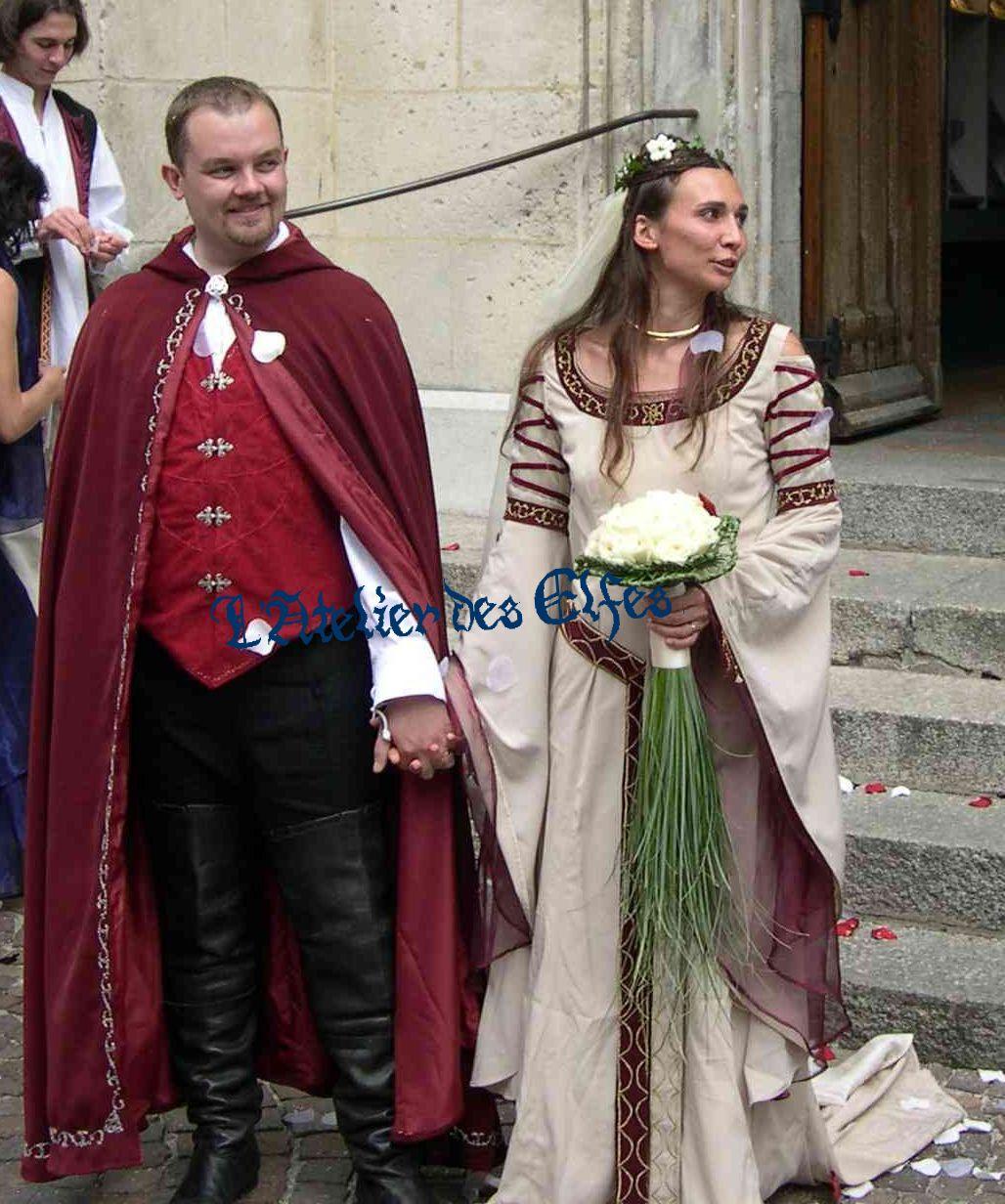 Fabuleux Mariage médiéval ou elfique : les costumes médiévaux de Dame  OE37